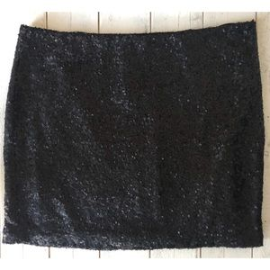 Miss Me Skirts - MM Couture by Miss Me Sequin Mini Skirt in Black